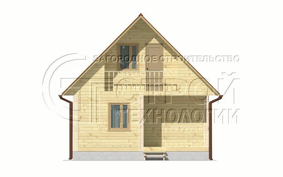Дом 8 на 10 с балконом..