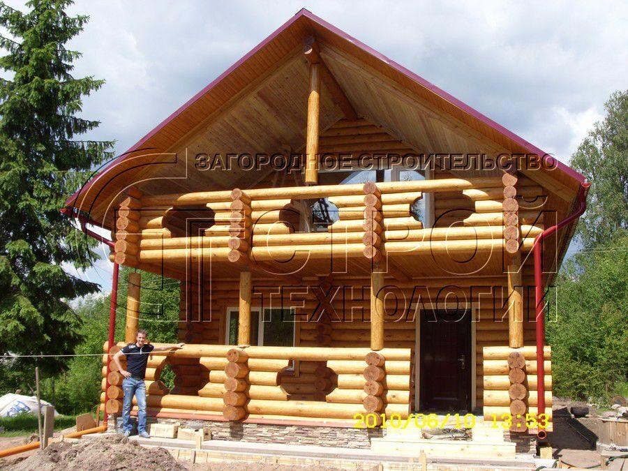 Фотографии строительства бревенчатого дома в симагино ленинг.