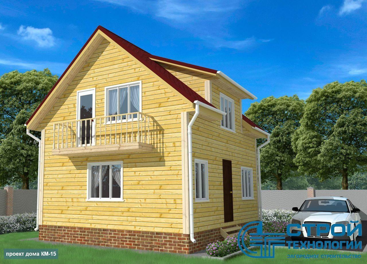 дом с мансардой фото 2 этажей