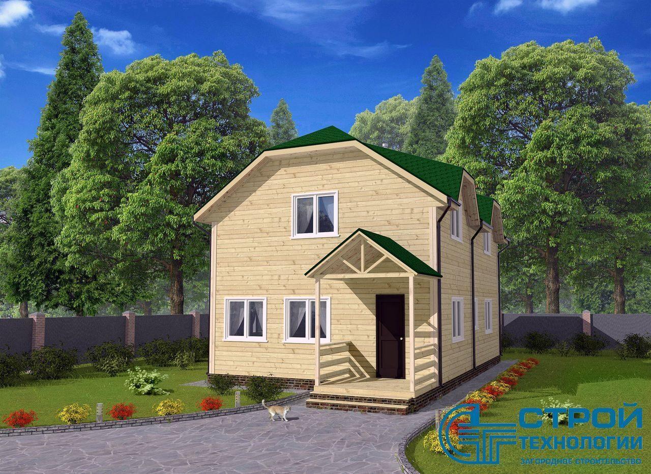 брусовые загородные дома